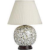 Flower Ball Ceramic Table Lamp
