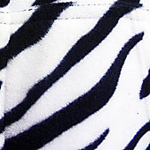 Zebra Hooded Onesie for Toddlers - Large