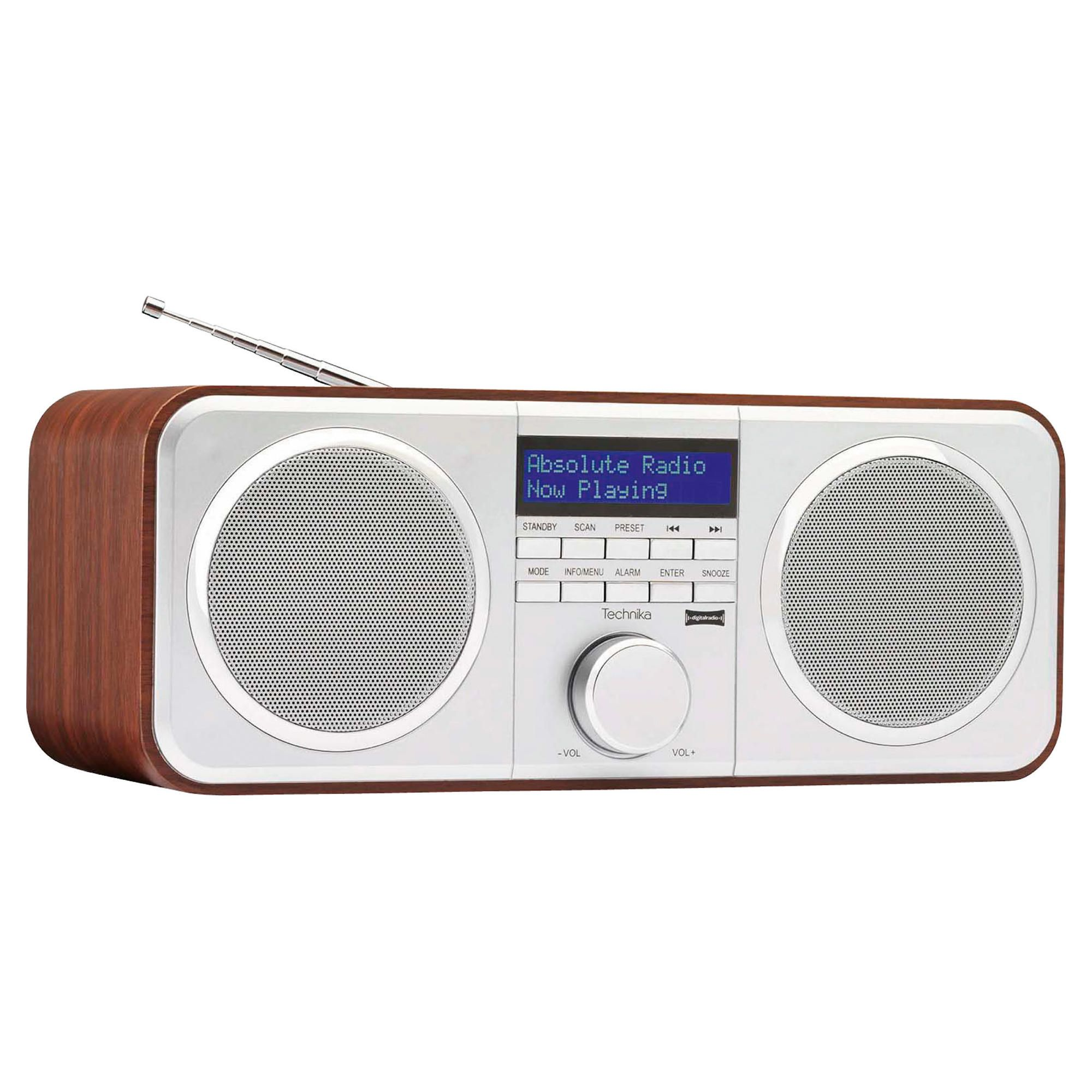 technika dr1303 wooden stereo dab radio best deals on dab radio. Black Bedroom Furniture Sets. Home Design Ideas