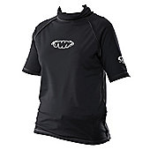 TWF UV Adult Unisex Rash Vest - Black