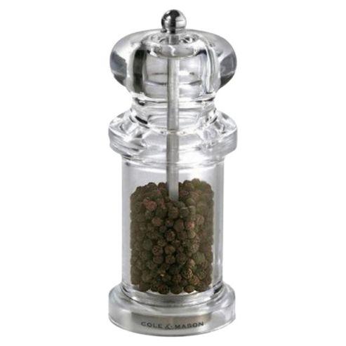 Cole & Mason 505 Acrylic Pepper Mill, Clear
