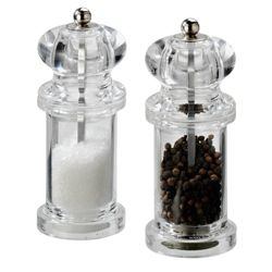 Cole & Mason 505 Acrylic Pepper Mill, Clear