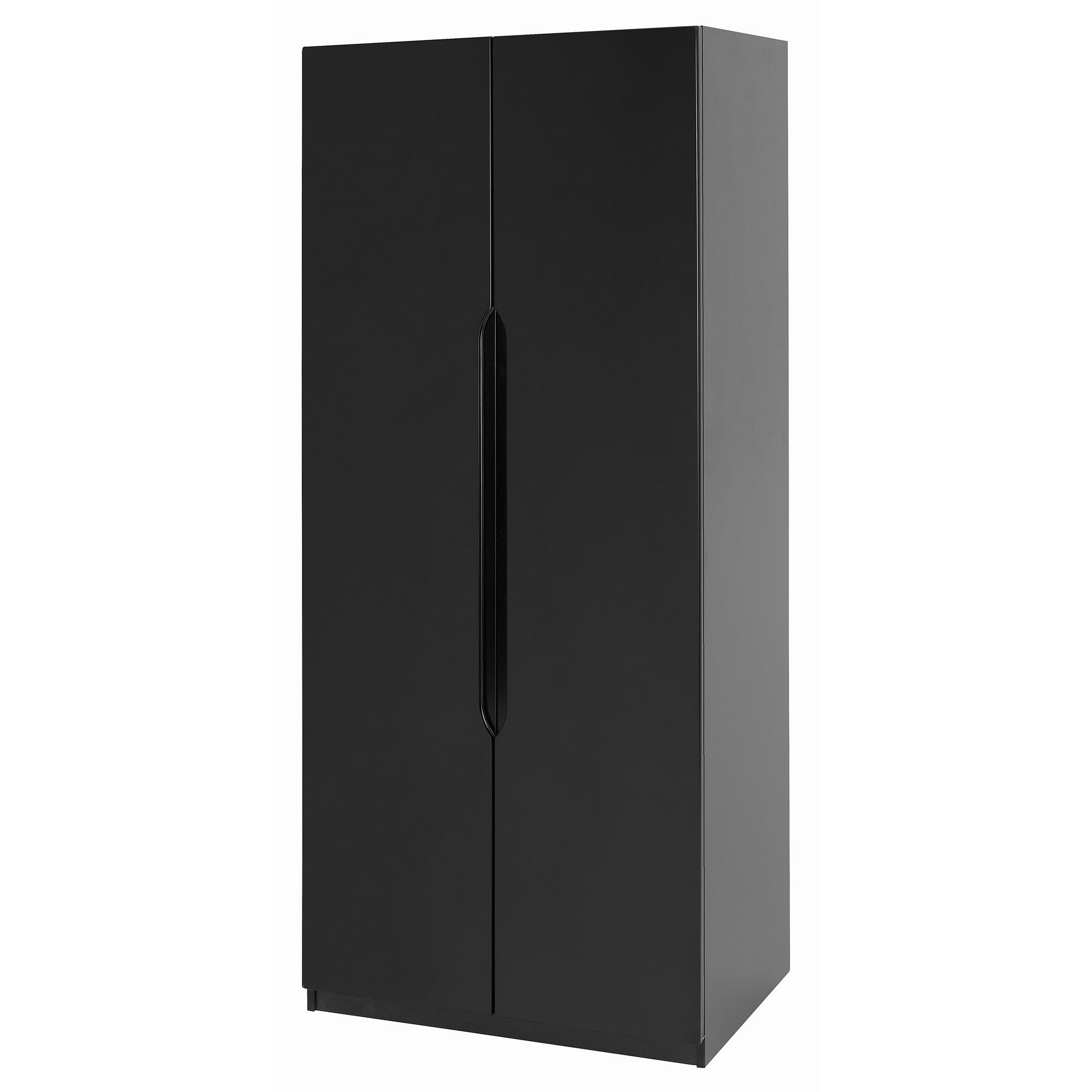 Alto Furniture Visualise Orient Two Door Wardrobe in High Gloss Black at Tescos Direct