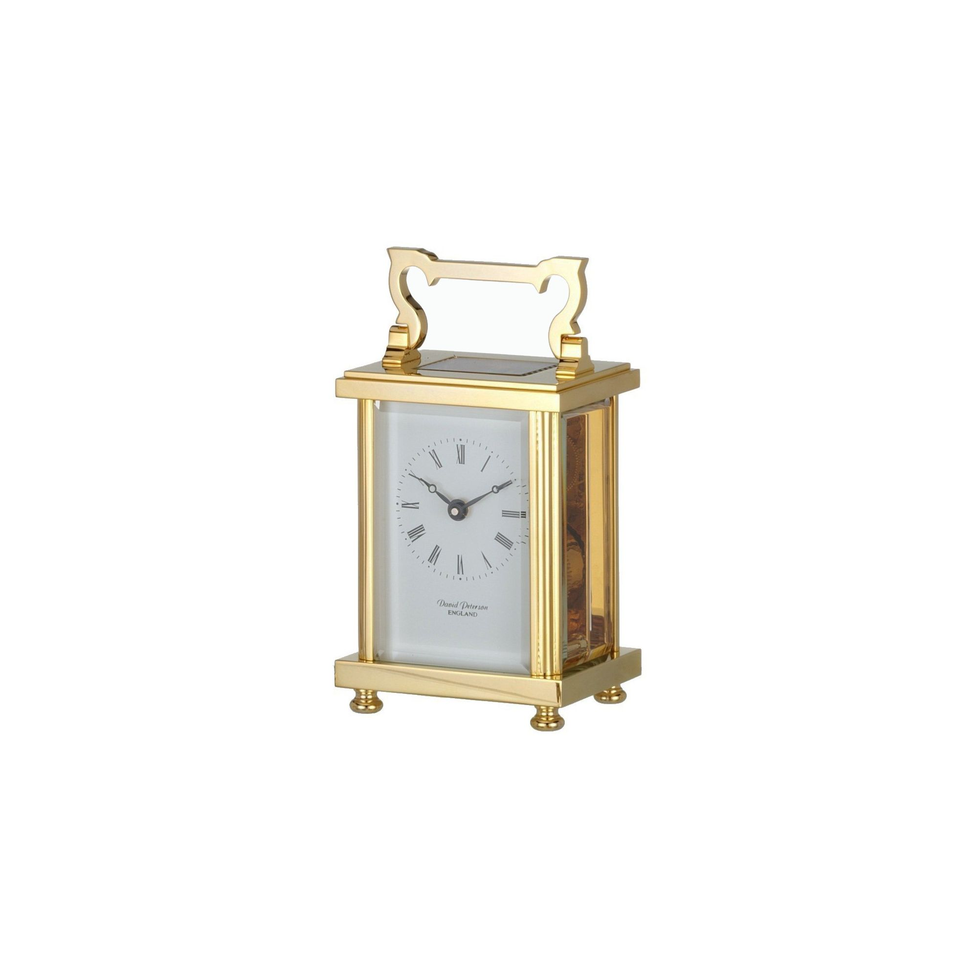 David Peterson Ltd 8 Day Heavy Flat Carriage Clock at Tesco Direct
