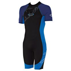TWF Wetsuit Shortie Men's Chest size 38/36, Blue