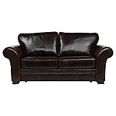 Aldeborough Leather Sofa Bed, Walnut