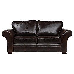 Aldeborough Leather Sofa Bed, Walnut
