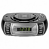 Tesco CDCR-108B CD Clock Radio Silver