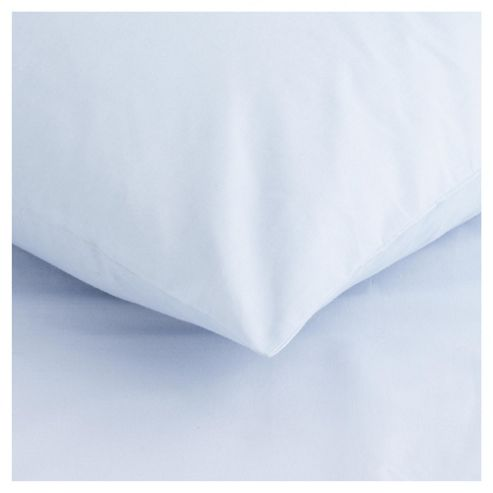 Tesco Twin Pack Pillowcase, Powder Blue