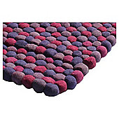 The Ultimate Rug Co. Rocks Rug Plum 120X170Cm