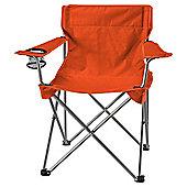 Tesco Folding Camping Chair, Orange