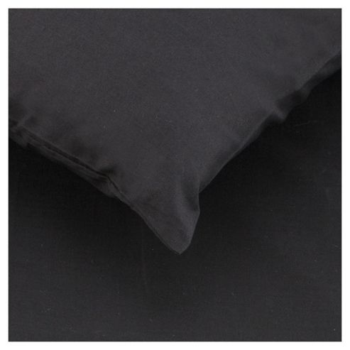 Tesco Twin Pack Pillowcase, Black