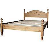 ValuFurniture Antique Waxed Pine 4ft6 Bed High End