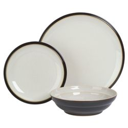 Denby Everyday 12 Piece Boxed Dinner Set, Black Pepper