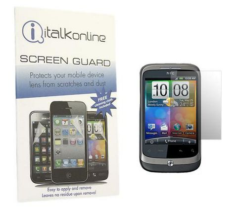 iTALKonline S-Protect LCD Screen Protector and Micro Fibre Cleaning Cloth - For  HTC WildFire.