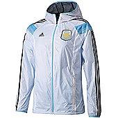 2014-15 Argentina Adidas Anthem Track Top (White) - White