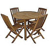 Teak Bistro Set Round Table