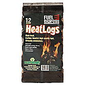 Fuel Express Long Burning Heat Logs, Pack of 12