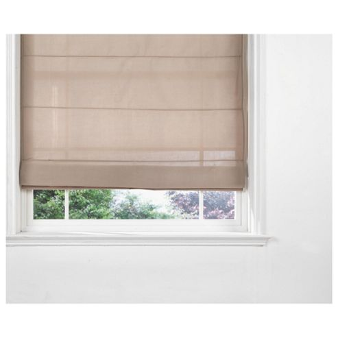 Tesco Fabric Roman Blind, Taupe 120Cm