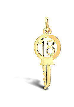 Jewelco London 9ct Solid Gold 18 Key Pendant,a perfect gift for that special milestone birthday!