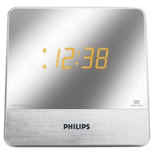 buy philips aj3231 mirror display dual alarm radio from our philips range tesco. Black Bedroom Furniture Sets. Home Design Ideas