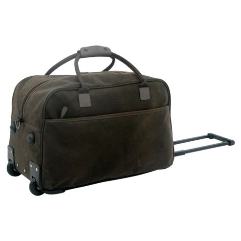 Tesco 2-Wheel Holdall, Pebble Suede