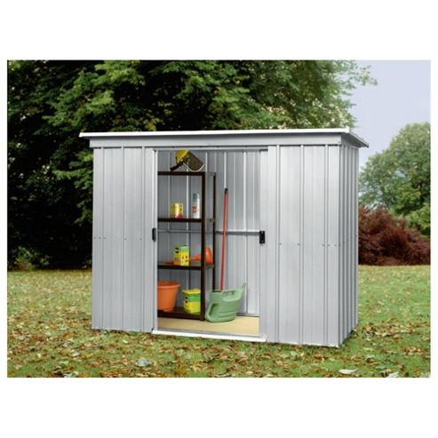 Buy yardmaster metal pent shed from our metal sheds range for Garden shed tesco