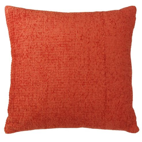 buy tesco chenille cushion terracotta from our cushions. Black Bedroom Furniture Sets. Home Design Ideas
