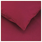 Tesco Twin Pack Pillowcase, Dark Red