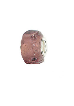 Amore & Baci Rose Pink Jelly Murano Bead