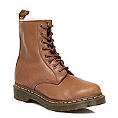 Dr. Martens 8 Eye Serena TanLeather Shearling Lining Womens Lace up Ankle Boots - Tan