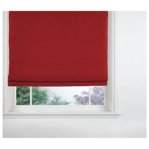 Fabric Roman Blind, Berry 120Cm