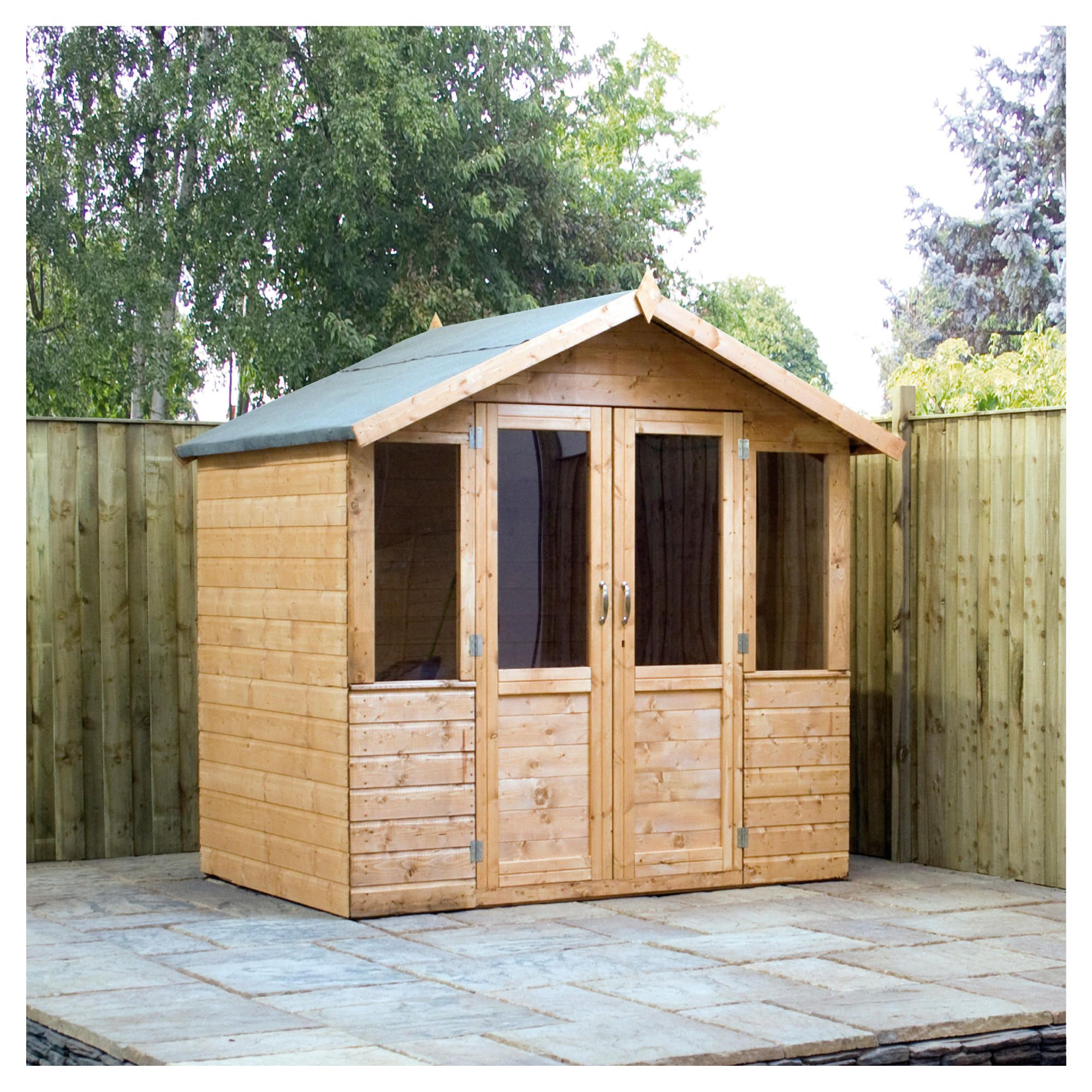Mercia 7 x 5 Summerhouse at Tesco Direct