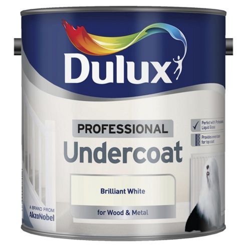 Dulux Professional Wood & Metal Undercoat, Pure Brilliant White, 2.5L