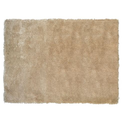 Tesco Rugs Luxurious Shaggy Rug, Natural 120X170Cm
