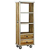 Baumhaus IRC01A Roadie Chic Oak Tall Bookcase