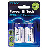 Tesco Hi Tech 2 Pack C Batteries