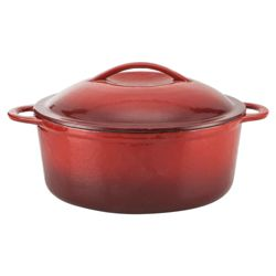 Tesco Professional Go Cook Cast Iron Stockpot 24cm Red
