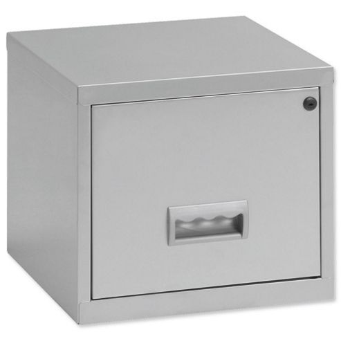 Pierre Henry A4 1 Drawer Filing Cube Cabinet, Silver