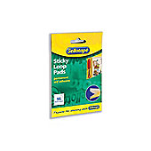 Sellotape Sticky Loop Pads 96 Pads 20x20mm White Ref 504051