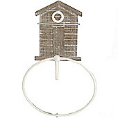 Beach Hut - Wall Mounted Towel Rack / Loop - Brown