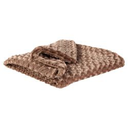 F&F Home Rose Faux Fur Throw 150X170Cm - Mink