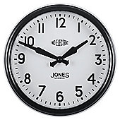 Jones & Co Appollo Black Wall Clock