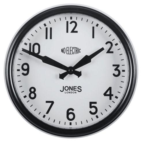 Jones & Co Apollo Clock Black