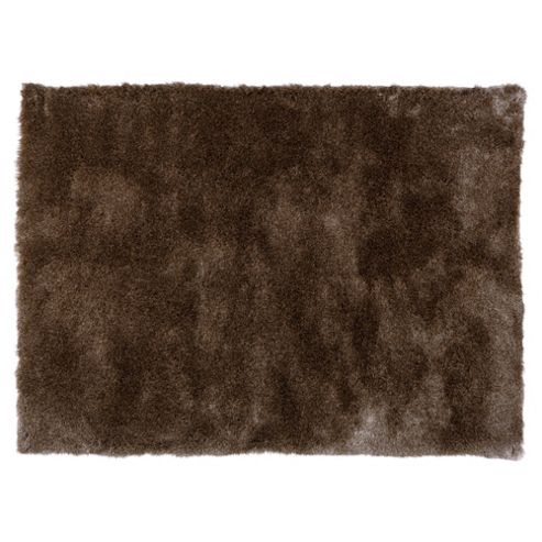 Tesco Rugs Luxurious Shaggy Rug, Platinum 120X170Cm