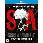 Sons Of Anarchy Seasons 1-5 - (Blu-Ray Boxset)