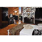 Welcome Furniture Mayfair Tall Plain Wardrobe - Cream - Black - Ebony