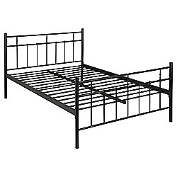 Caen Double Metal Bed Frame, Black