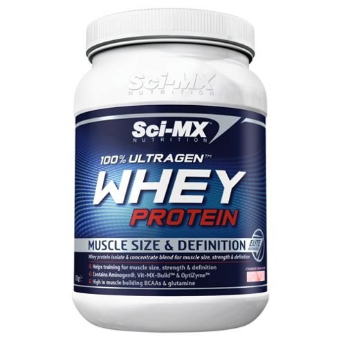 Sci-Mx 100% Ultragen Whey Protein 908g Strawberry