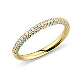 Jewelco London 18ct Gold - Diamond Pave-set - Half Eternity Ring - Size J